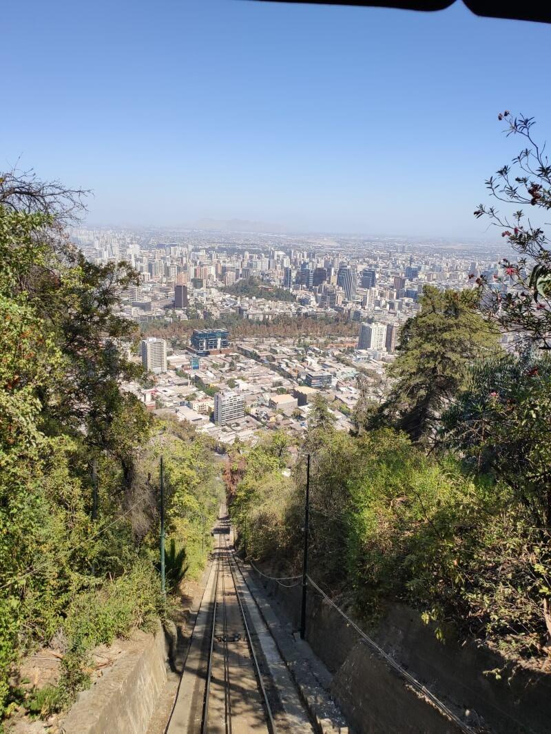 Vista da cidade através do bondinho